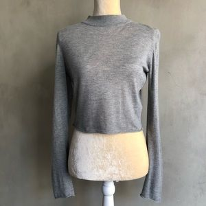 Trouve | Cropped Turtleneck Sweater Top
